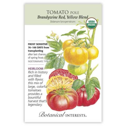 Brandywine Tomato Seed Packet, Copyright Botanical Interests